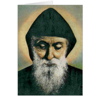 Saint Charbel Portrait Greeting Card