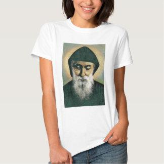 Saint Charbel Portrait T Shirts