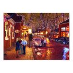 Saint Charles Cityscape Oil Landscape Painting 13 Cm X 18 Cm Invitation Card