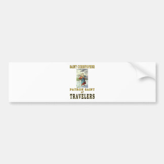 SAINT CHRISTOPHER BUMPER STICKER