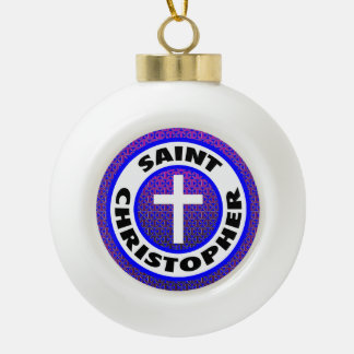 Saint Christopher Ceramic Ball Decoration
