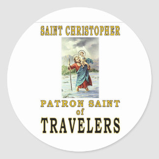 SAINT CHRISTOPHER CLASSIC ROUND STICKER