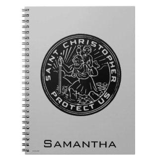 Saint Christopher Medal Notebook