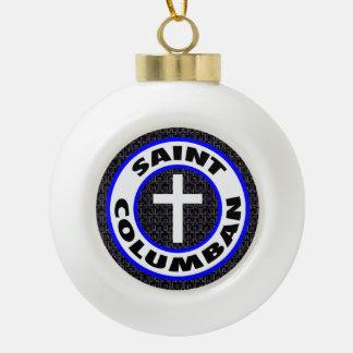 Saint Columban Ceramic Ball Decoration