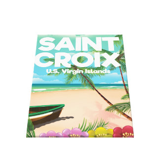 Saint Croix, U.S. Virgin Islands travel poster Canvas Print