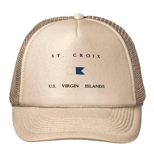 Saint Croix US Virgin Islands Alpha Dive Flag Hats