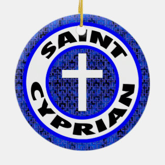 Saint Cyprian Round Ceramic Decoration