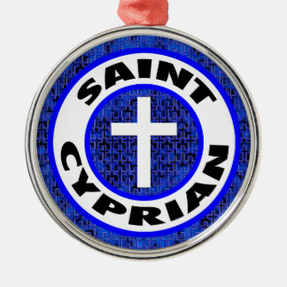 Saint Cyprian Silver-Colored Round Decoration