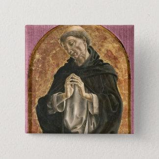 Saint Dominic (tempera on panel) 15 Cm Square Badge