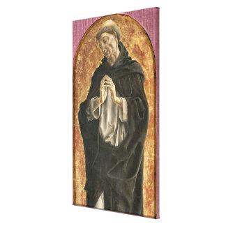 Saint Dominic (tempera on panel) Canvas Print