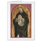 Saint Dominic (tempera on panel) Card
