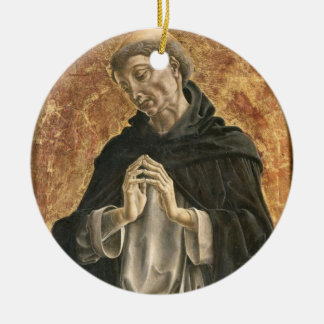 Saint Dominic (tempera on panel) Christmas Ornament