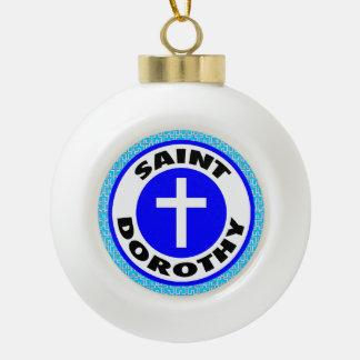 Saint Dorothy Ceramic Ball Decoration