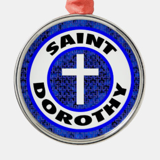 Saint Dorothy Silver-Colored Round Decoration