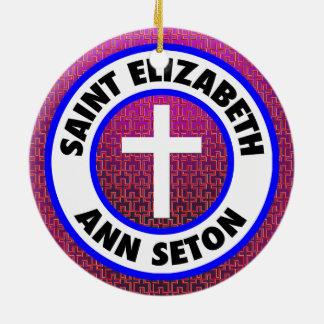 Saint Elizabeth Ann Seton Round Ceramic Decoration