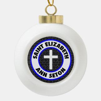 Saint Elizabeth Ann Seton Ceramic Ball Decoration