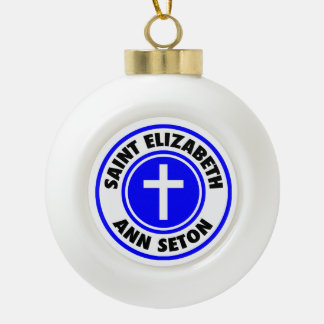 Saint Elizabeth Ann Seton Ceramic Ball Christmas Ornament