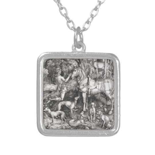Saint Eustace Engraving by Albrecht Durer Silver Plated