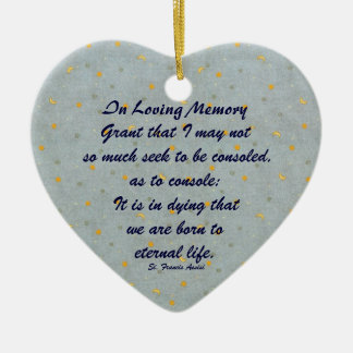 Saint Francis Assisi In Loving Memory Ornament