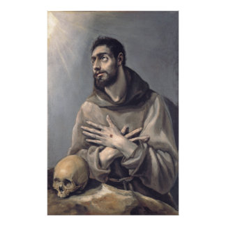 Saint Francis by El Greco Art Photo