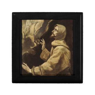 Saint Francis  Eyes Toward Heaven Small Square Gift Box