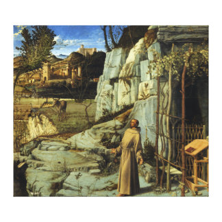 Saint Francis in the Desert by Giovanni Bellini Canvas Print