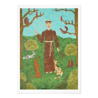 Saint Francis of Assisi Custom Invitations