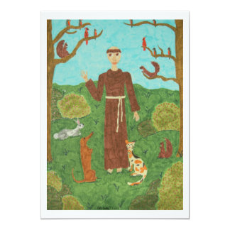 Saint Francis of Assisi Custom Invitations