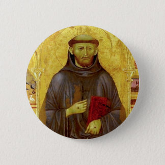 Saint Francis of Assisi Medieval Iconography 6 Cm Round Badge