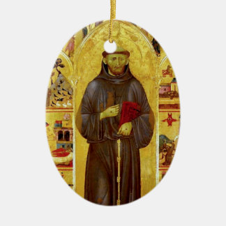 Saint Francis of Assisi Medieval Iconography Christmas Ornament