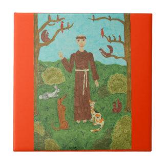 Saint Francis of Assisi Tile