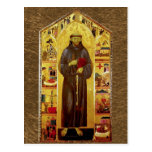 Saint Francis of Assissi Mediaeval Iconography Postcard