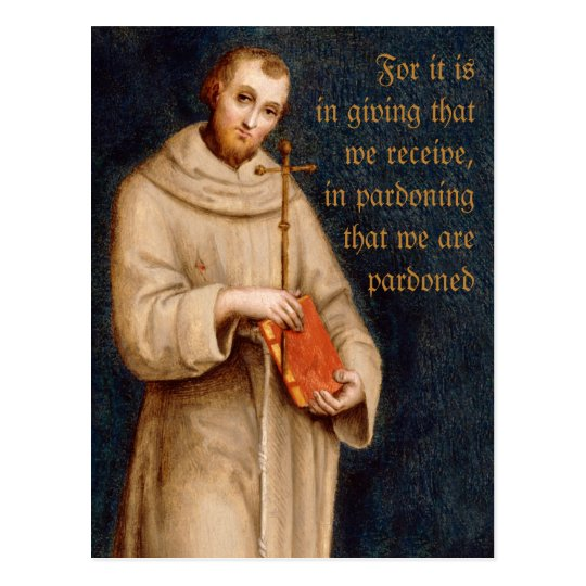 Saint Francis' prayer CC0731 Raphael Postcard