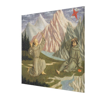 Saint Francis Receiving the Stigmata, c. 1445-50 Canvas Print