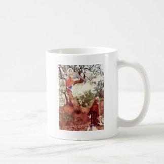 Saint Francis with Angel Basic White Mug