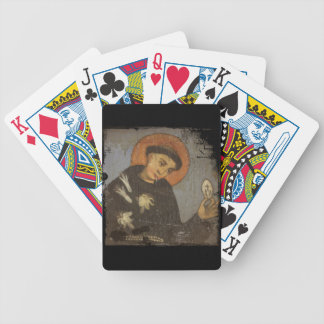Saint Francis with White Lilies Bicycle Playing Cards