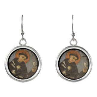 Saint Francis with White Lilies Earrings