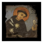 Saint Francis with White Lilies Posters