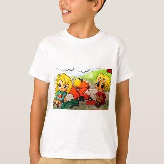 Saint Gabriel and Michael Archangels Eating Pie T-shirt
