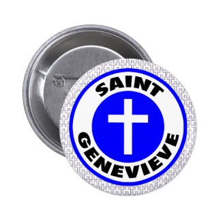 Saint Genevieve 6 Cm Round Badge