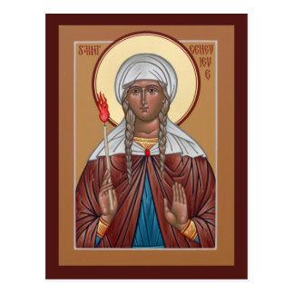 Saint Genevieve Prayer Card Postcard