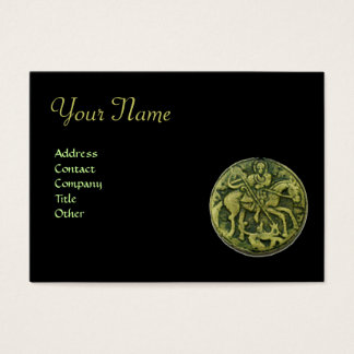 SAINT GEORGE AND DRAGON MEDALLION Monogram, black Business Card