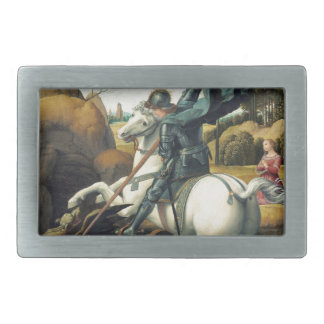 Saint George and the Dragon Belt Buckle