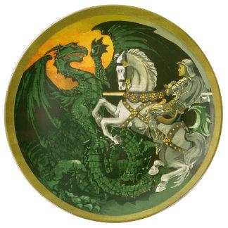Saint George Dragon Vintage Style Plate