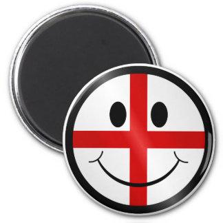 Saint George face 6 Cm Round Magnet