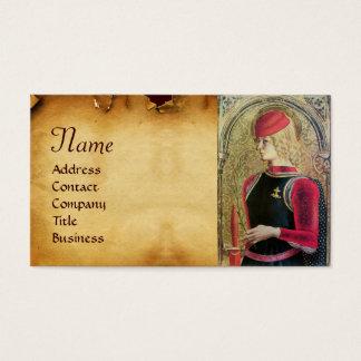 SAINT GEORGE PORTRAIT Old Brown Parchment Business Card