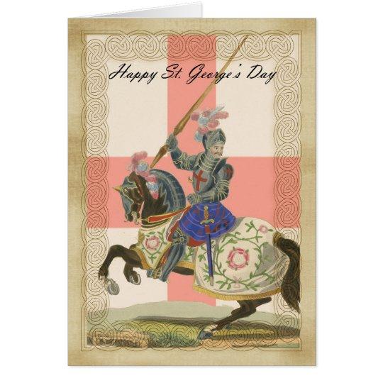 Saint George's Day card, St. George carda Card
