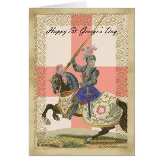 Saint George's Day card, St. George carda Greeting Card