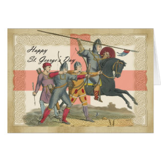 Saint George's Day card, St. George, Knight Greeting Card
