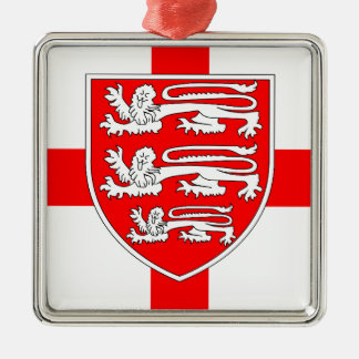 Saint Georges Day Silver-Colored Square Decoration